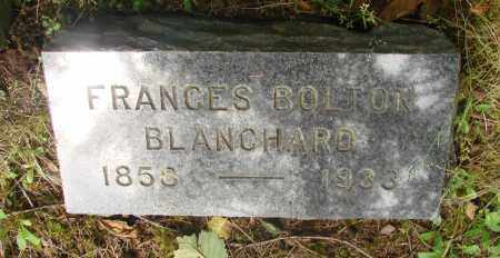 BLANCHARD, FRANCES BOLTON - Tillamook County, Oregon | FRANCES BOLTON BLANCHARD - Oregon Gravestone Photos