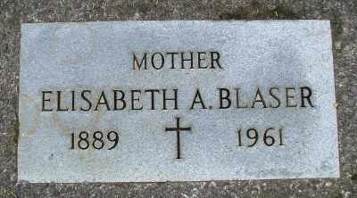 BLASER, ELISABETH A - Tillamook County, Oregon   ELISABETH A BLASER - Oregon Gravestone Photos