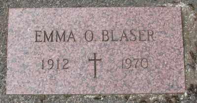 BLASER, EMMA O - Tillamook County, Oregon | EMMA O BLASER - Oregon Gravestone Photos