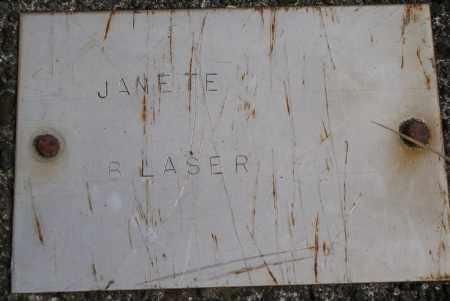 BLASER, JANETE - Tillamook County, Oregon | JANETE BLASER - Oregon Gravestone Photos