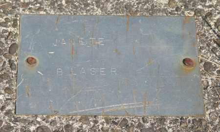 BLASER, JANETE - Tillamook County, Oregon   JANETE BLASER - Oregon Gravestone Photos