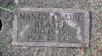 BLASER, NANCY CLAIRE - Tillamook County, Oregon   NANCY CLAIRE BLASER - Oregon Gravestone Photos