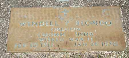 BLONDO (WWII), WENDELL P - Tillamook County, Oregon | WENDELL P BLONDO (WWII) - Oregon Gravestone Photos