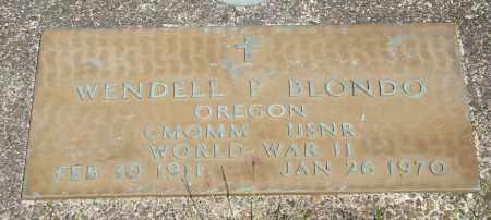 BLONDO, WENDELL P - Tillamook County, Oregon | WENDELL P BLONDO - Oregon Gravestone Photos