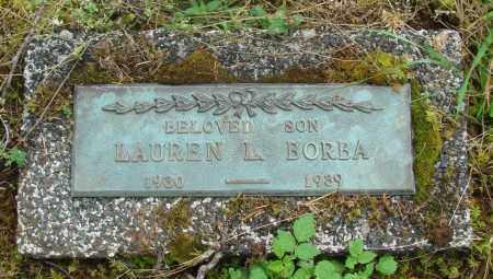 BORBA, LAUREN L - Tillamook County, Oregon | LAUREN L BORBA - Oregon Gravestone Photos