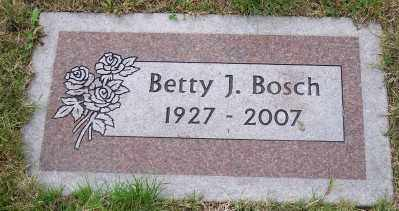 BOSCH, BETTY J - Tillamook County, Oregon | BETTY J BOSCH - Oregon Gravestone Photos