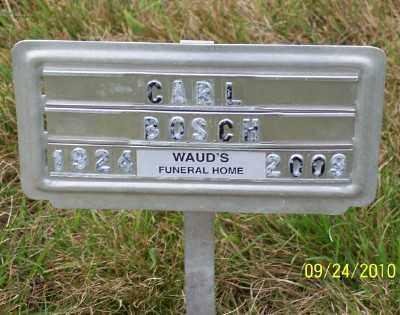 BOSCH, CARL U - Tillamook County, Oregon   CARL U BOSCH - Oregon Gravestone Photos