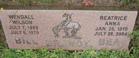 BRANDT, WENDALL WILSON - Tillamook County, Oregon | WENDALL WILSON BRANDT - Oregon Gravestone Photos