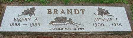 BRANDT, JENNIE L - Tillamook County, Oregon | JENNIE L BRANDT - Oregon Gravestone Photos
