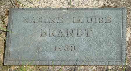 BRANDT, MAXINE LOUISE - Tillamook County, Oregon | MAXINE LOUISE BRANDT - Oregon Gravestone Photos