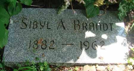BRANDT, SIBYL A - Tillamook County, Oregon | SIBYL A BRANDT - Oregon Gravestone Photos