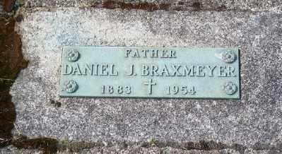 BRAXMEYER, DANIEL J - Tillamook County, Oregon | DANIEL J BRAXMEYER - Oregon Gravestone Photos