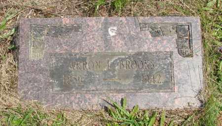 BROOKS, ARRON I - Tillamook County, Oregon | ARRON I BROOKS - Oregon Gravestone Photos