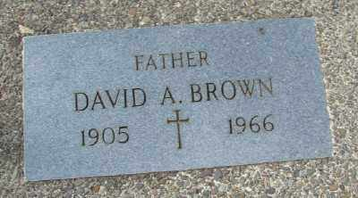 BROWN, DAVID A - Tillamook County, Oregon | DAVID A BROWN - Oregon Gravestone Photos