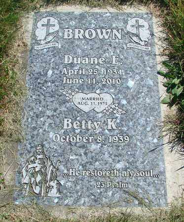 BROWN, DUANE EARL - Tillamook County, Oregon | DUANE EARL BROWN - Oregon Gravestone Photos