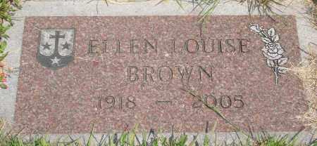 BROWN, ELLEN LOUISE - Tillamook County, Oregon | ELLEN LOUISE BROWN - Oregon Gravestone Photos