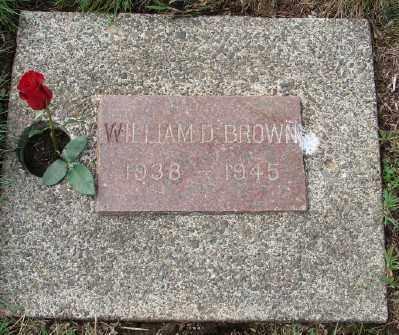 BROWN, WILLIAM D - Tillamook County, Oregon | WILLIAM D BROWN - Oregon Gravestone Photos