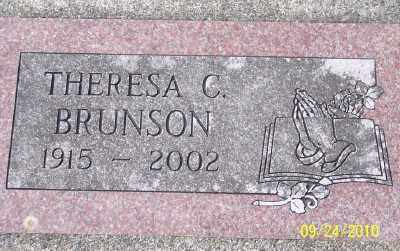 BRUNSON, THERESA C - Tillamook County, Oregon | THERESA C BRUNSON - Oregon Gravestone Photos