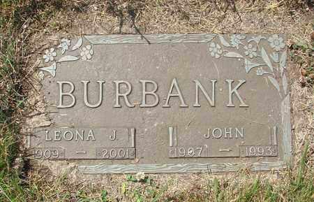 BURBANK, LEONA J - Tillamook County, Oregon   LEONA J BURBANK - Oregon Gravestone Photos