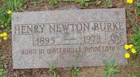 BURKE, HENRY NEWTON - Tillamook County, Oregon   HENRY NEWTON BURKE - Oregon Gravestone Photos