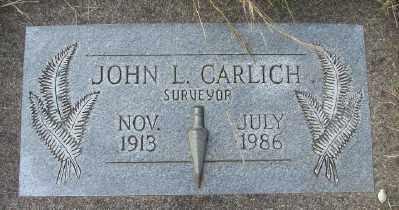 CARLICH, JOHN L - Tillamook County, Oregon | JOHN L CARLICH - Oregon Gravestone Photos