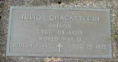 CHACARTEGUI (WWII), JULIO - Tillamook County, Oregon | JULIO CHACARTEGUI (WWII) - Oregon Gravestone Photos