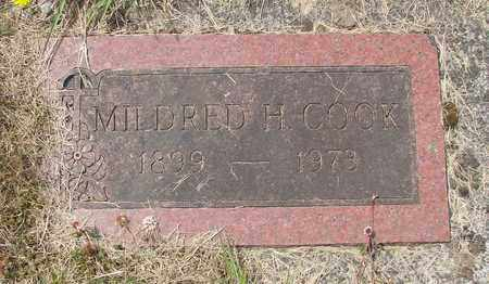 COOK, MILDRED H - Tillamook County, Oregon   MILDRED H COOK - Oregon Gravestone Photos