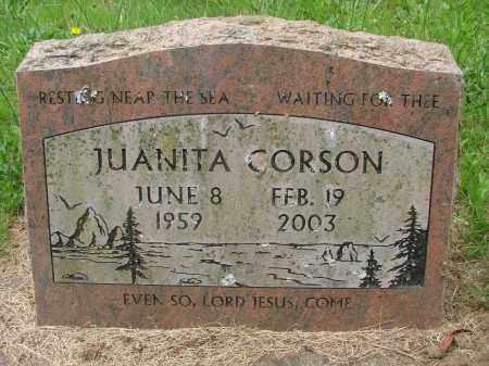 CORSON, JUANITA - Tillamook County, Oregon | JUANITA CORSON - Oregon Gravestone Photos