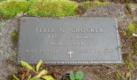 CROCKER (WWII), FELIX N - Tillamook County, Oregon | FELIX N CROCKER (WWII) - Oregon Gravestone Photos