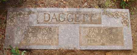 DAGGETT, VALENTINE - Tillamook County, Oregon | VALENTINE DAGGETT - Oregon Gravestone Photos