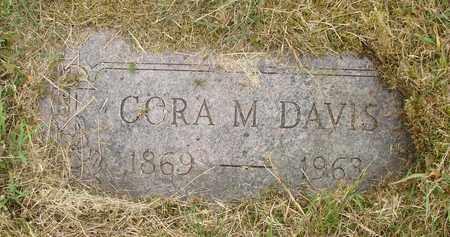 DAVIS, CORA M - Tillamook County, Oregon | CORA M DAVIS - Oregon Gravestone Photos