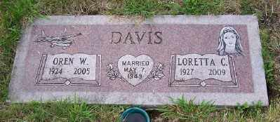 DAVIS, OREN W - Tillamook County, Oregon | OREN W DAVIS - Oregon Gravestone Photos
