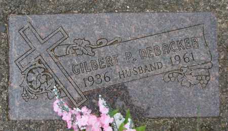 DEBACKER, GILBERT P - Tillamook County, Oregon   GILBERT P DEBACKER - Oregon Gravestone Photos