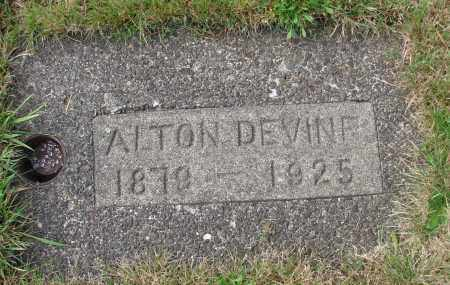 DEVINE, ALTON - Tillamook County, Oregon | ALTON DEVINE - Oregon Gravestone Photos