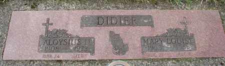 DIDIER, MARY LOUISE - Tillamook County, Oregon | MARY LOUISE DIDIER - Oregon Gravestone Photos