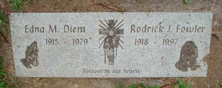 FOWLER, RODRICK J - Tillamook County, Oregon | RODRICK J FOWLER - Oregon Gravestone Photos