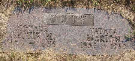 DOTY, BETTIE M - Tillamook County, Oregon | BETTIE M DOTY - Oregon Gravestone Photos