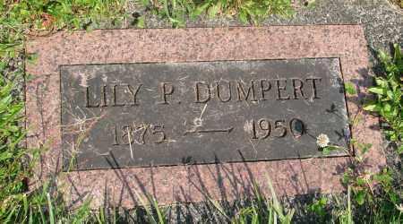 DUMPERT, LILY P - Tillamook County, Oregon | LILY P DUMPERT - Oregon Gravestone Photos