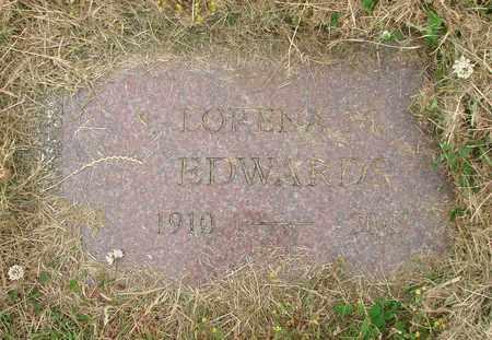 EDWARDS, LORENA M - Tillamook County, Oregon | LORENA M EDWARDS - Oregon Gravestone Photos