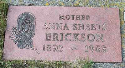 SHEETS ERICKSON, ANNA - Tillamook County, Oregon | ANNA SHEETS ERICKSON - Oregon Gravestone Photos