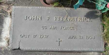 FITZPATRICK (SERV), JOHN F - Tillamook County, Oregon | JOHN F FITZPATRICK (SERV) - Oregon Gravestone Photos