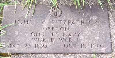 FITZPATRICK (WWI), JOHN V - Tillamook County, Oregon | JOHN V FITZPATRICK (WWI) - Oregon Gravestone Photos