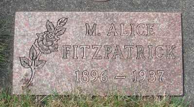 FITZPATRICK, M ALICE - Tillamook County, Oregon | M ALICE FITZPATRICK - Oregon Gravestone Photos
