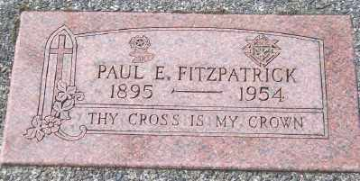 FITZPATRICK, PAUL E - Tillamook County, Oregon | PAUL E FITZPATRICK - Oregon Gravestone Photos