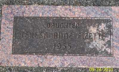 FIZETTE, TERESA ANNE - Tillamook County, Oregon | TERESA ANNE FIZETTE - Oregon Gravestone Photos