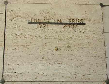 FRIES, EUNICE N - Tillamook County, Oregon   EUNICE N FRIES - Oregon Gravestone Photos