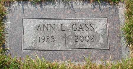 GASS, ANN L - Tillamook County, Oregon | ANN L GASS - Oregon Gravestone Photos