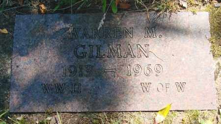 GILMAN, WARREN M - Tillamook County, Oregon | WARREN M GILMAN - Oregon Gravestone Photos