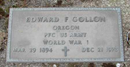 GOLLON, EDWARD F - Tillamook County, Oregon | EDWARD F GOLLON - Oregon Gravestone Photos