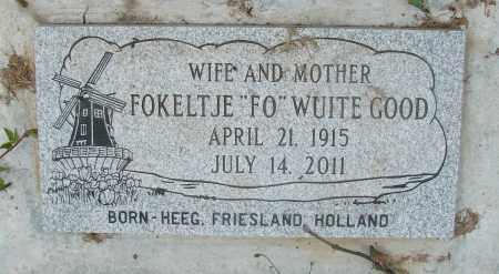 WUITE GOOD, FOKELTJE - Tillamook County, Oregon | FOKELTJE WUITE GOOD - Oregon Gravestone Photos